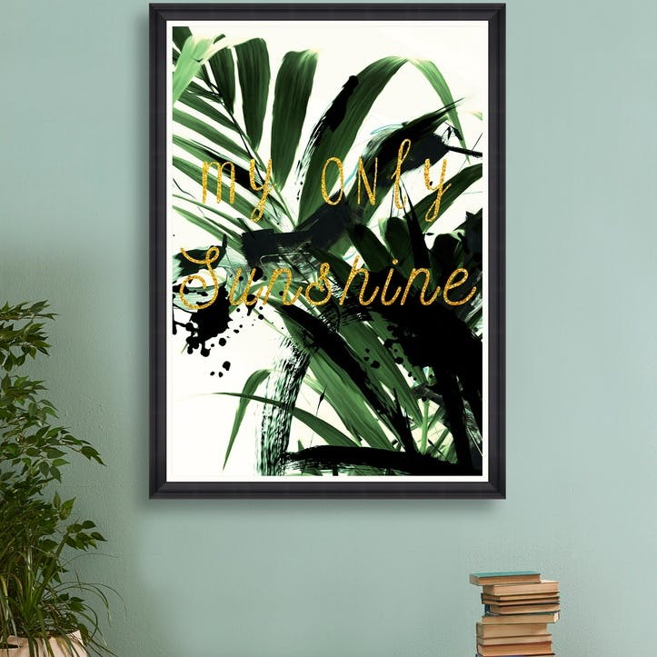 My Only Sunshine, Black Framed Print, 70 x 100 cm