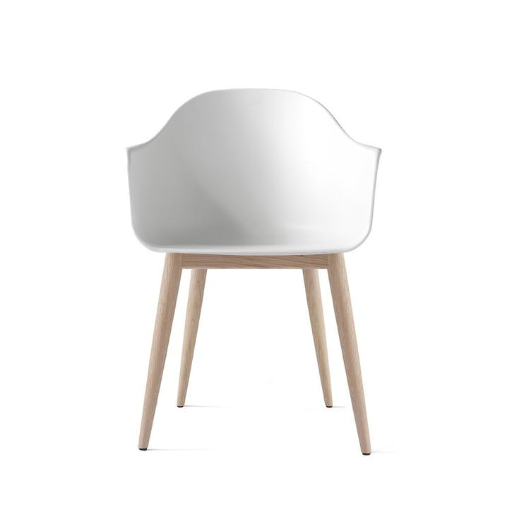 Harbour, Dining Chair, H81 x W59 x D57cm, White & Oak