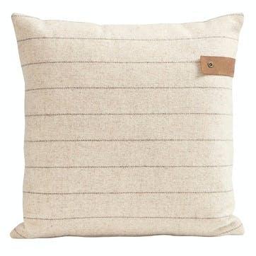 Marina Wool Striped Cushion, Crème