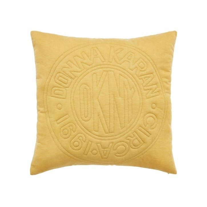 Circle Logo Cushion, Ochre
