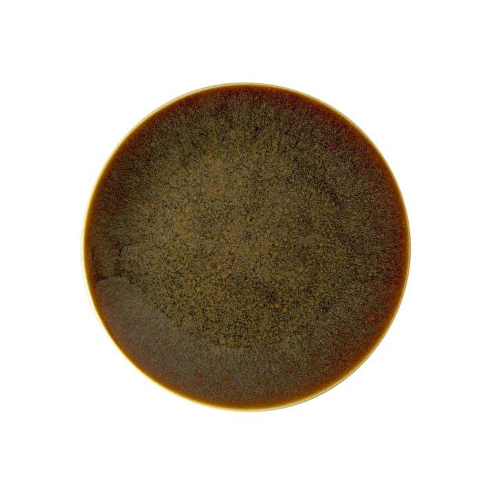 Art Glaze Coupe Plate - 21cm; Caramel