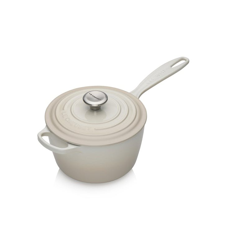 Signature Cast Iron Saucepan, 18cm, Meringue