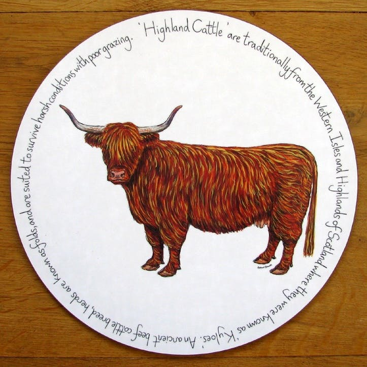 Highland Cow Tablemat - 28cm