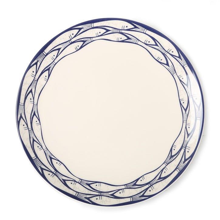 Sardine Run Dinner Plate, 28cm, Blue