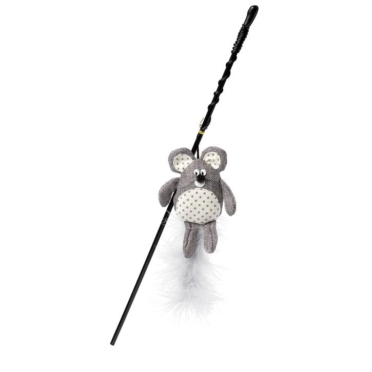 Mouse Hessian Cat Wand