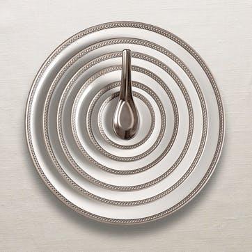 Soie Tressée Cereal Bowl, Platinum