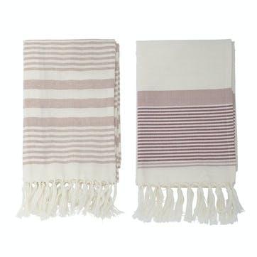 Cotton Hammam Towel, Set of 2, Rose