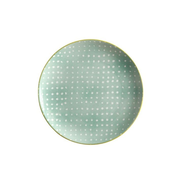 Laguna Side Plate, Crystal Cove Green