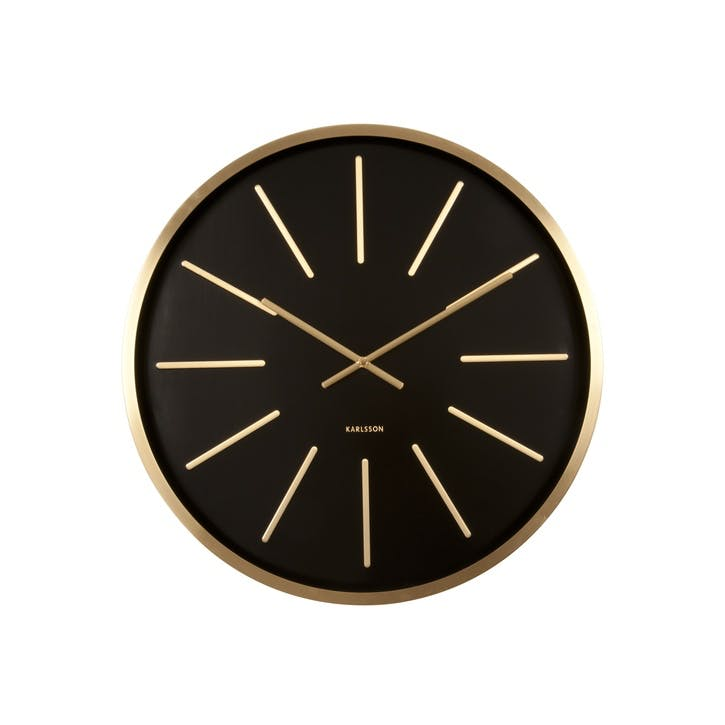Maxiemus Wall Clock, Brass