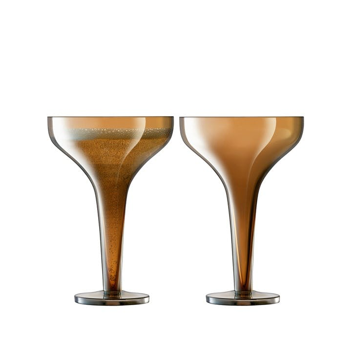 Époque, Champagne Saucer, Set of 2, 150ml, Amber