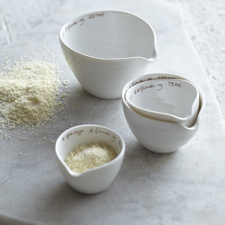 Measuring Cups; White