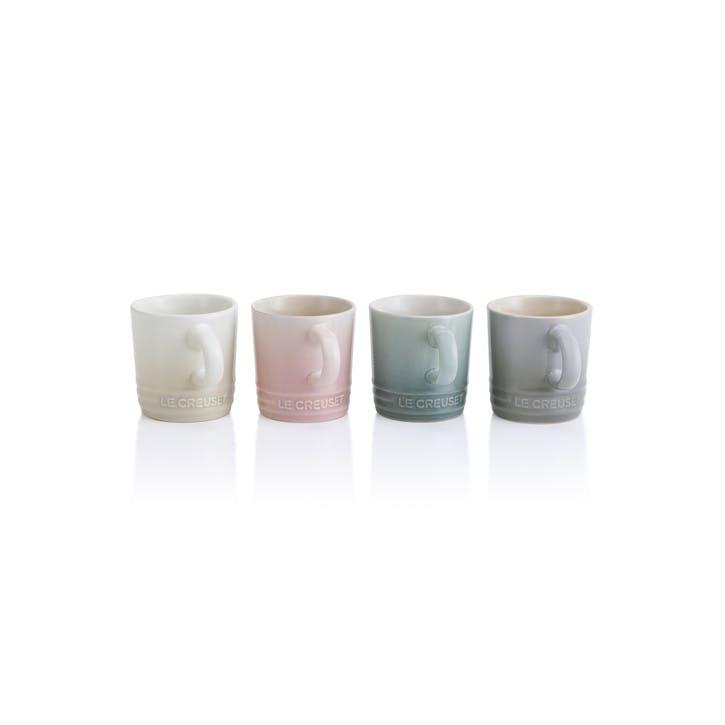 Calm Collection Espresso Mugs, Set of Four