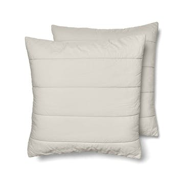 Quilted Square Pillowcase Pair, Clay