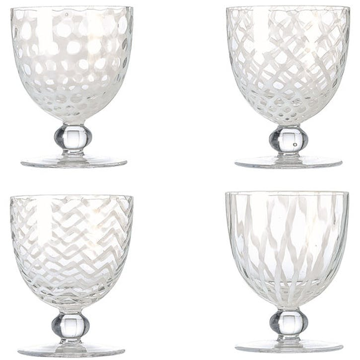 Pulcinella Set of Four Large Wine Glasses