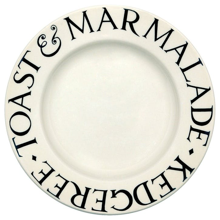 Black Toast Plate, 22cm