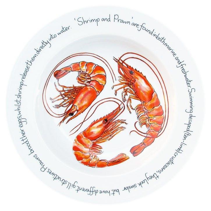 Shrimp Flat Rimmed Plate - 30cm