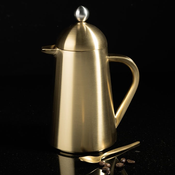 Edited Thermique Cafetière, Brushed Gold, 3 Cup