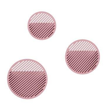 Diagonal, Large Wall Basket, Pink