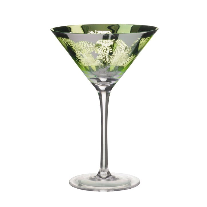 Tropical Leaves Martini Glass