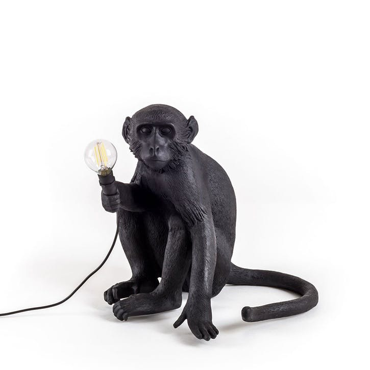 Monkey Lamp, Sitting in Black