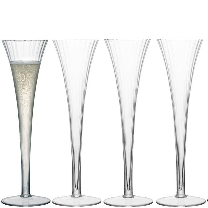 LSA Aurelia Champagne Flutes, 200ml, Set of 4