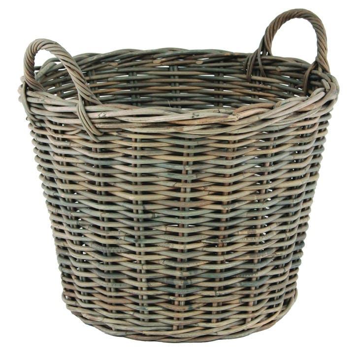 Rattan Woven Round Laundry Basket