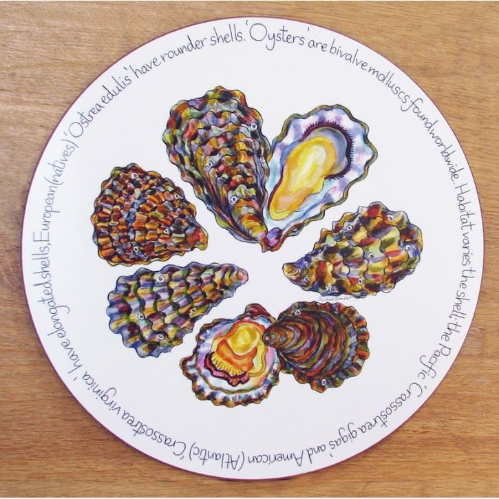 Oysters Tablemat - 28cm