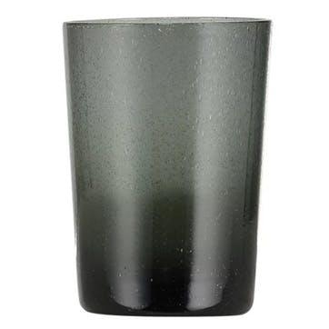 Charcoal Grey Glass Tumblers, Set of 6