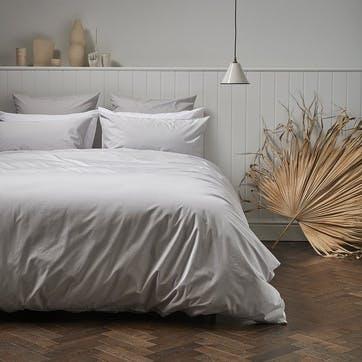 Classic Cotton Duvet Set, 135 x 200cm, Dove
