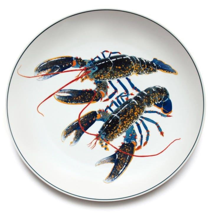 Seaflower Blue Lobster Charger Platter, 32cm, Blue