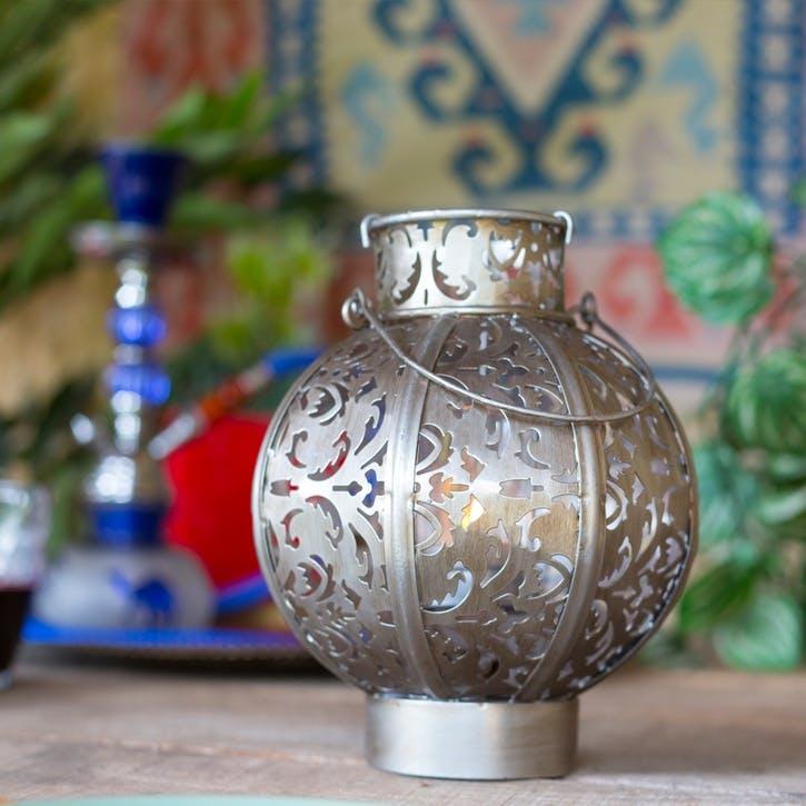 Morocco Globe Lantern, Medium