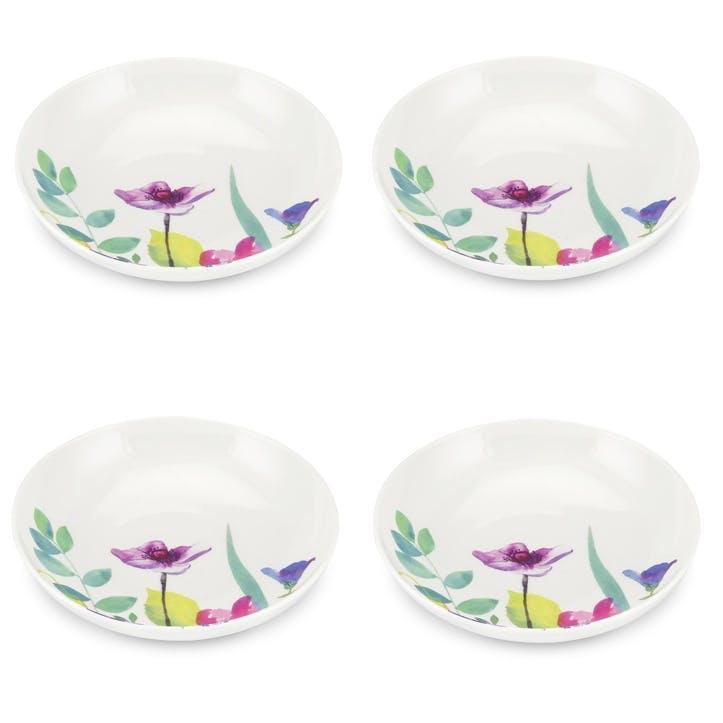 Water Garden Pasta Bowls, Set of 4