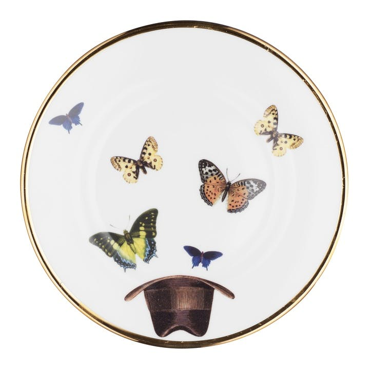 Modern Surrealist Hat and Butterflies Side Plate