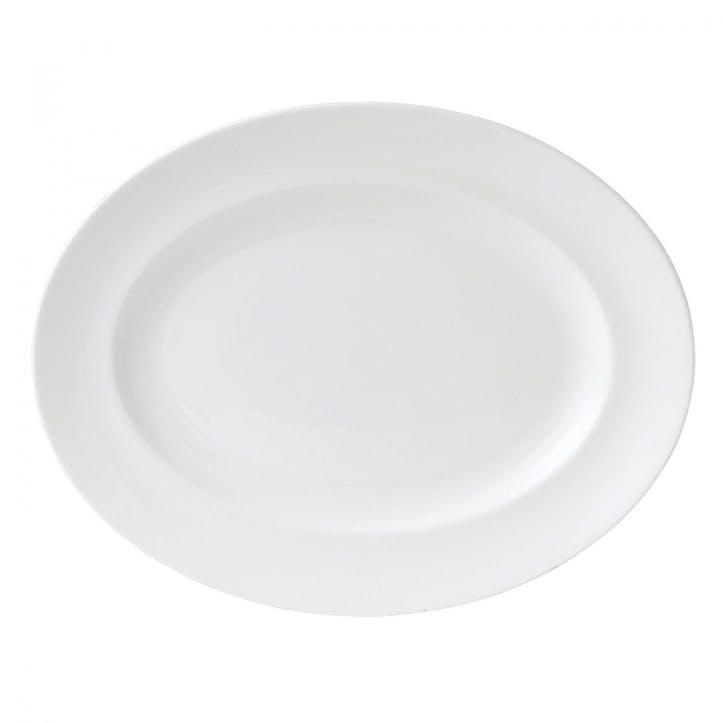 White Large Oval Platter, 35cm