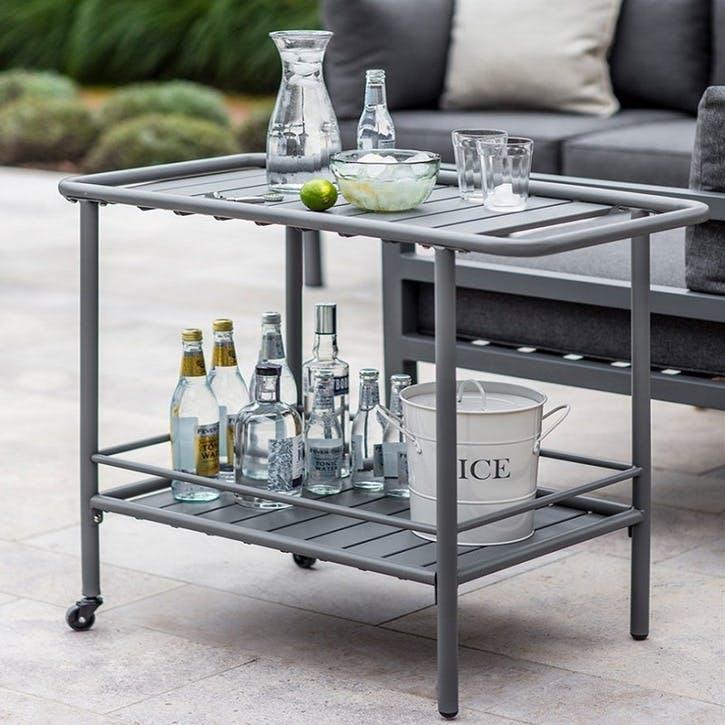 Drinks Trolley, Charcoal/ Steel