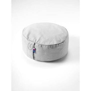 Organic Cotton Meditation Cushion, Grey Ice