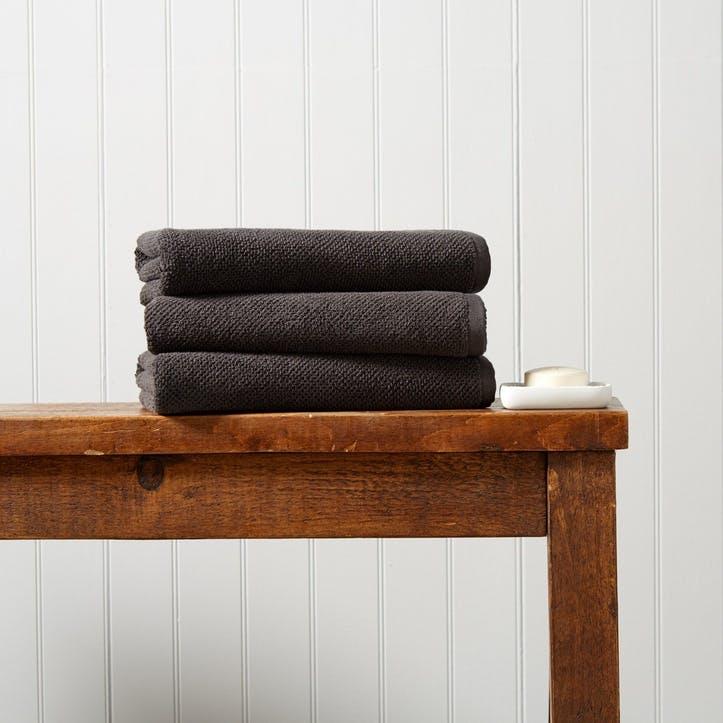 Brixton Hand Towel, Liquorice