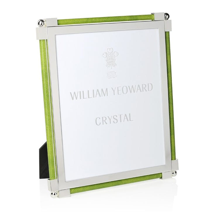 "Classic Lime Green Shagreen Photo Frame, 8""x10"""