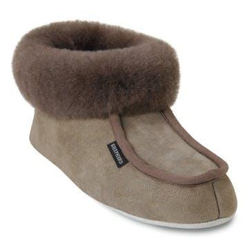 Moa Ladies Slippers - Size 38; Stone