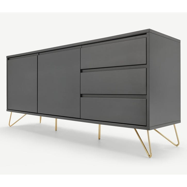Elona, Sideboard, Charcoal and Copper