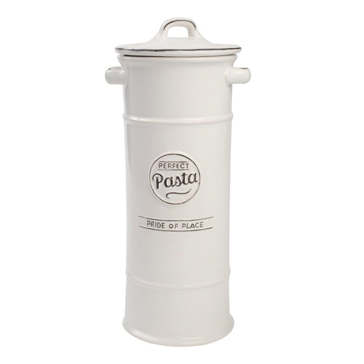 Pride of Place Pasta Jar, White