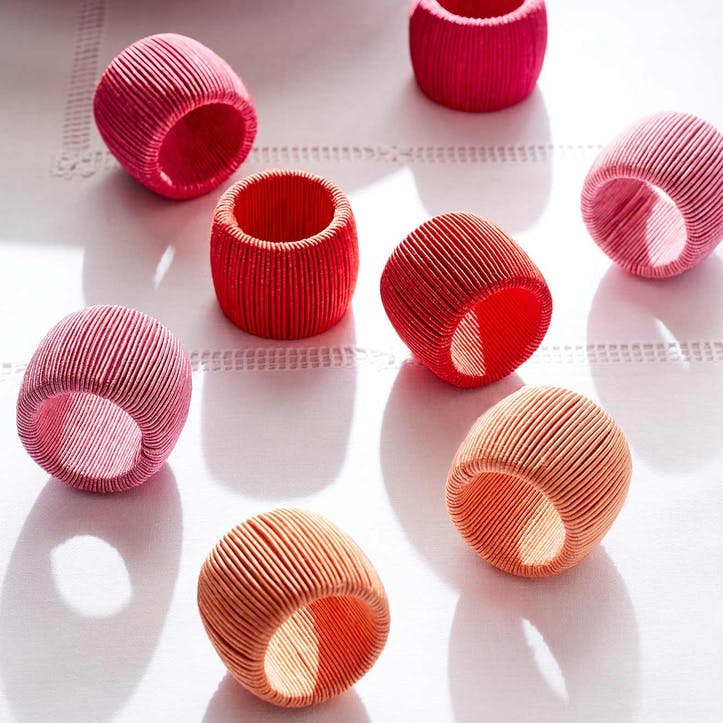 Soleil Cord Napkin Rings, Set of 8