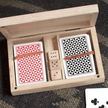 Mango Wood Card & Dice Set