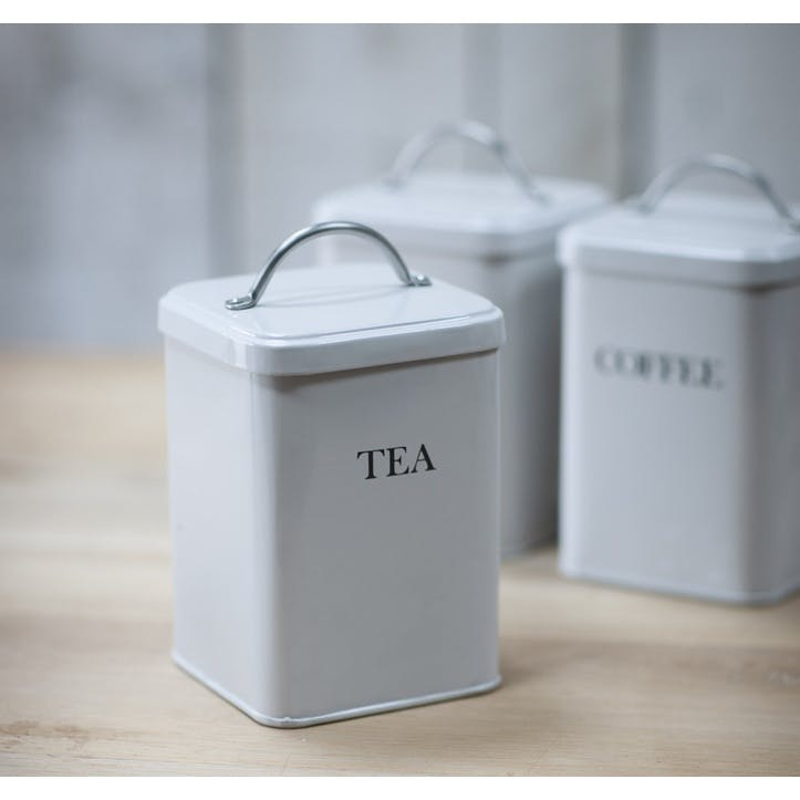 Tea Canister in Chalk