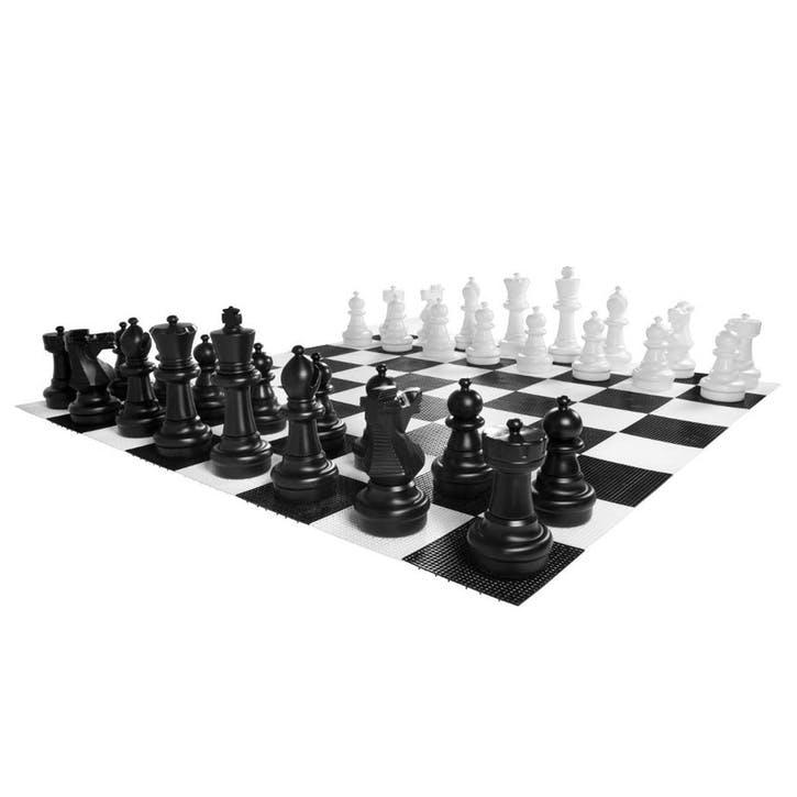 Garden Chess Pieces & Mat