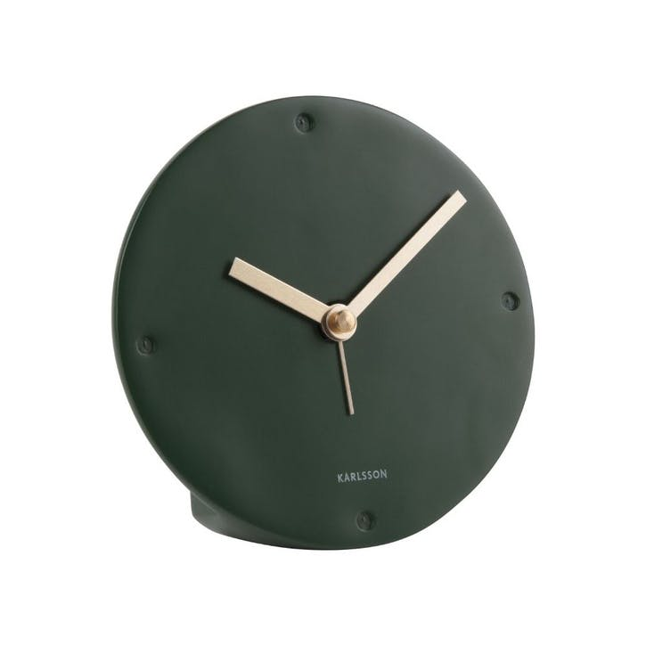 Mantle Alarm Clock, Green