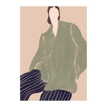 Kvinde Gron, Laura Nielsen Art Print