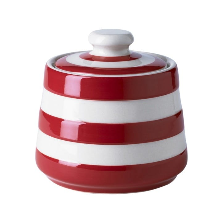 Covered Sugar Bowl, 10cm, Red
