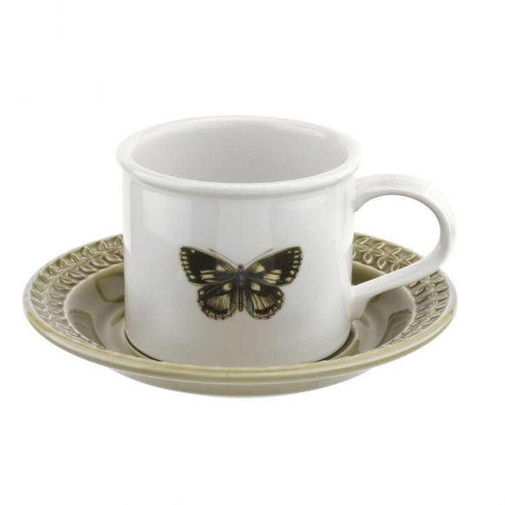 Breakfast Cup & Saucer, Moss Green