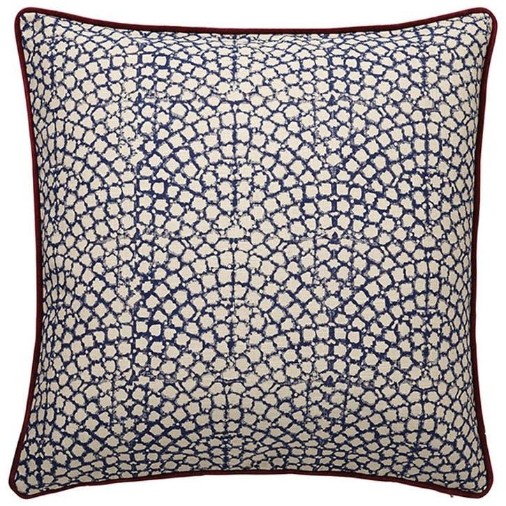Guilloche Cushion, Blue